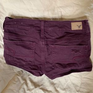 American Eagle Outfitters Shorts - American Eagle Shortie Merlot ASO Teen Wolf